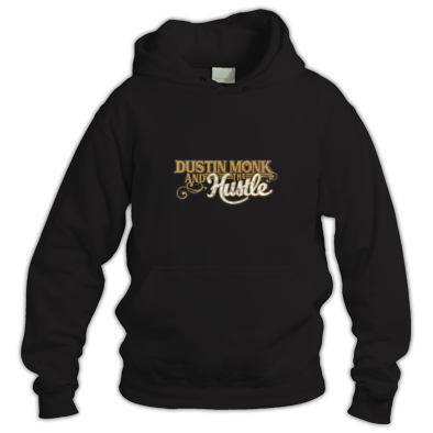 Hoodie Dustin Monk and the Hustle Logo Gold