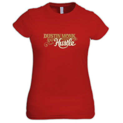 Women's T-shirt Dustin Monk and the Hustle Logo Gold
