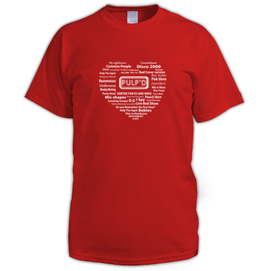 PULP'D Love - song and album heart Tee