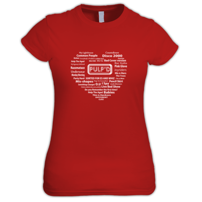 PULP'D Love - song and album heart Ladies Tee