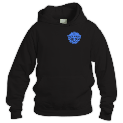 Durango Blue Hoodie small logo, you choose.