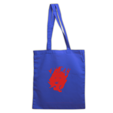 Red on Royal blue