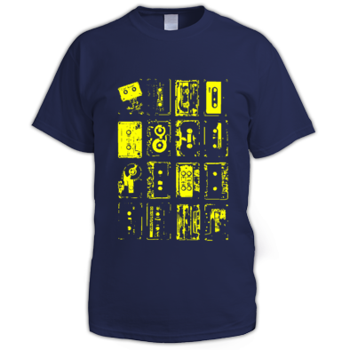 Rave Archive Retro Tapes T-Shirt Available in 44 colour varieties.