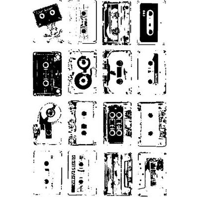 Rave Archive Retro Tapes ladies T-Shirt Available in 39 colour varieties.