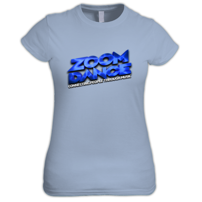 Zoom Dance Women's Large Blue  Logo - 9 Colours