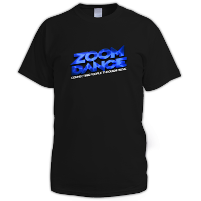 Zoom Dance Men's Large Blue Logo Tee - 9 Colours
