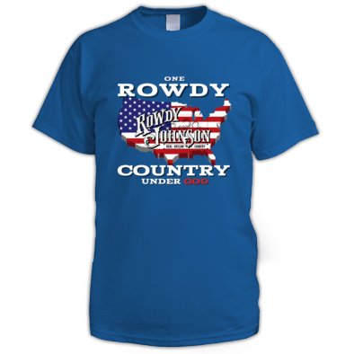 "Official ""One Rowdy Country Under God"" (Men's T-Shirt)"