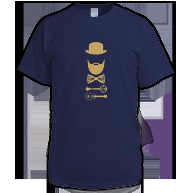 Hat, Beard, Ukes - Men's T-Shirt