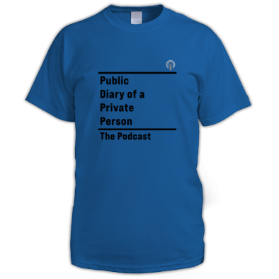 Public Diary of a Private Person t-shirt