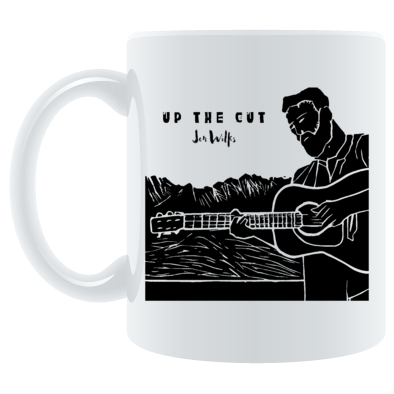 Jon Wilks Up the Cut Mug (linocut print by Jon Nice)