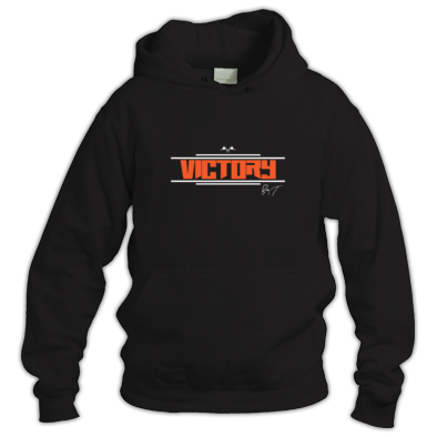 "Men's ""Victory"" Hoodie (Orange Letters)"
