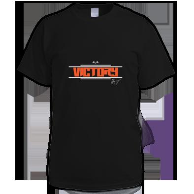 """Men's """"Victory"""" T-Shirt (Orange Letters)"""