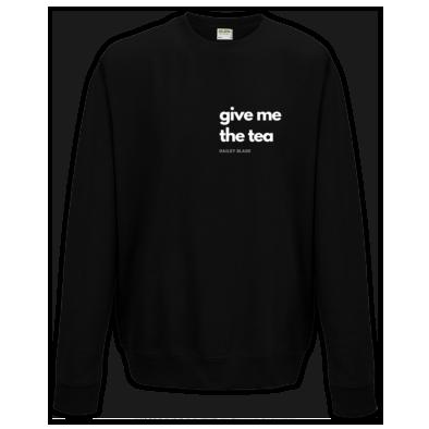 Tea Official Crew Neck Sweatshirt White Letters