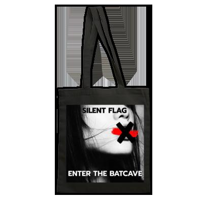 SILENT FLAG TOTE BAG SHANE (black or red)