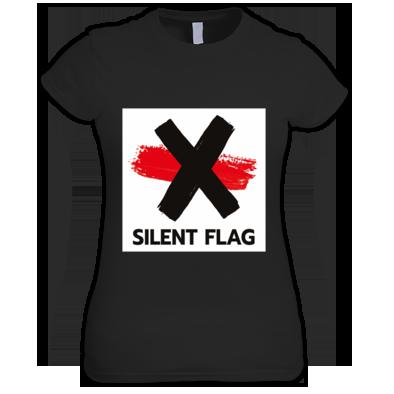 SILENT FLAG LOGO GIRLIE (black, white, red)