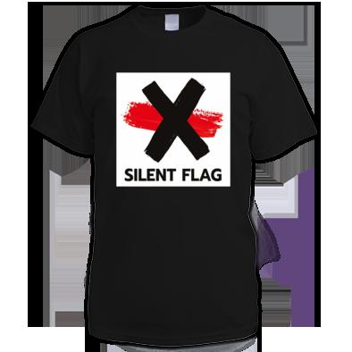 SILENT FLAG LOGO MALE (black, white, red)