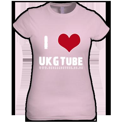 I Love UKGTube Women's Tee (White Lettering)