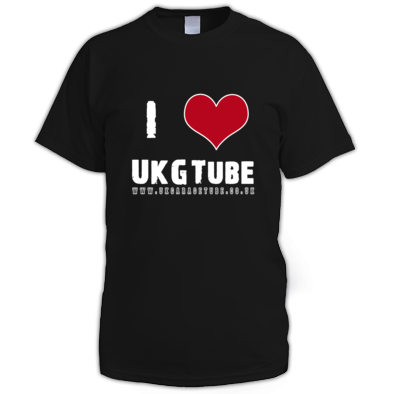 I Love UKGTube Men's Tee (White Lettering)