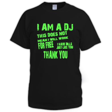 I am a DJ Mens's Tee