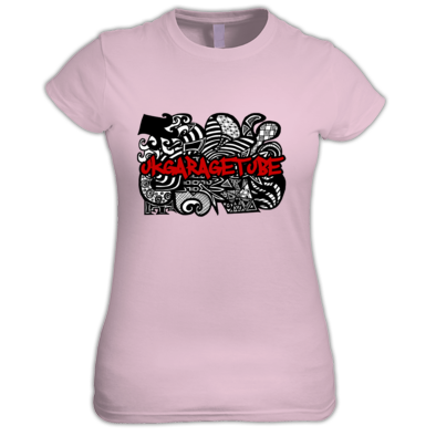 Abstract Hand Drawn (Filled) Logo Women's Tee