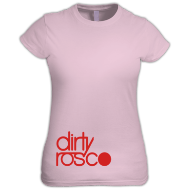 Dirty Rosco stacked logo women's t-shirt