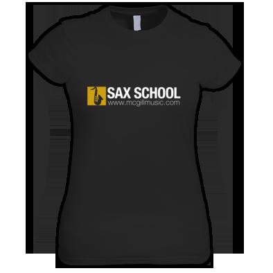 Sax School Ladies T-Shirt