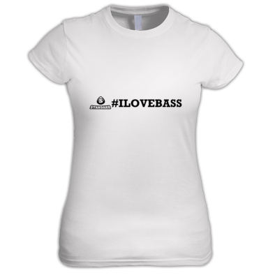 I Love Bass Women's Fitted Tee - more colours