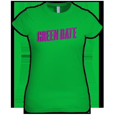 Green Date Logo T Shirt Womans
