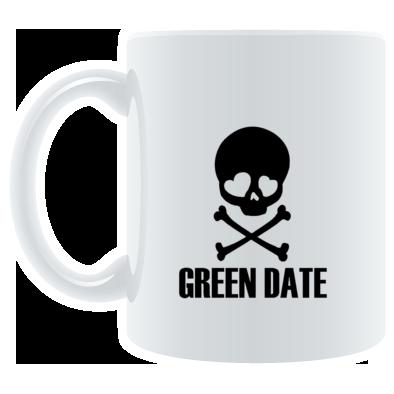 Green Date Skull Mug