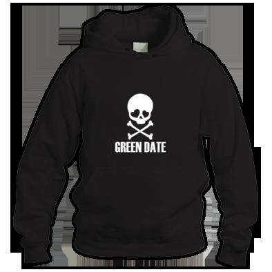 Green Date Skull Hoodie