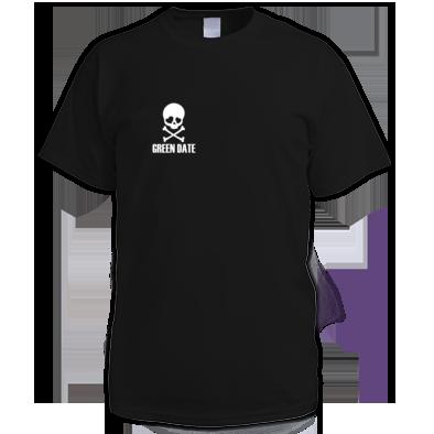 Green Date Skull T Shirt Mens