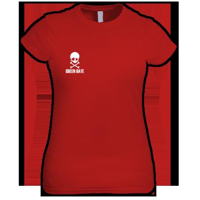 Green Date Skull T Shirt Womans