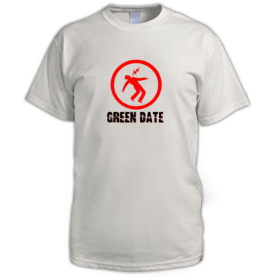 Green Date Warning T Shirt Mens