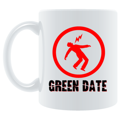 Green Date Warning Mug