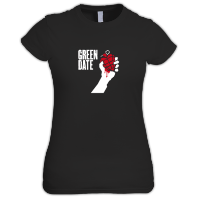 Green Date American Idiot T Shirt Womans