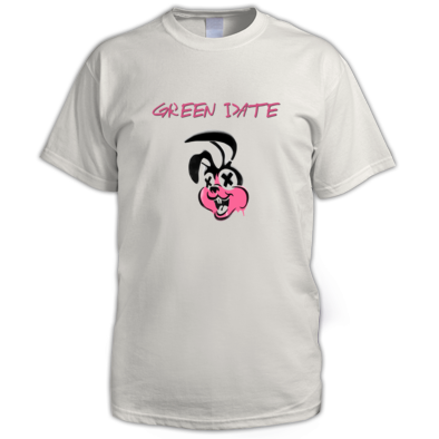 Green Date Pink Bunny T Shirt Mens