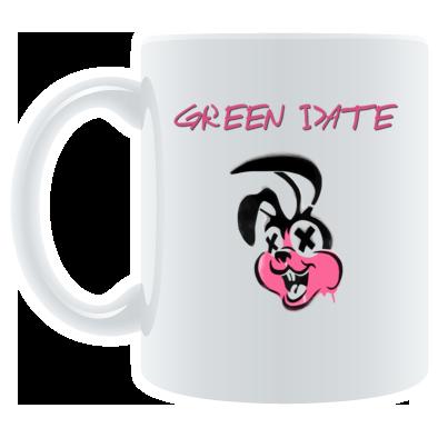 Green Date Pink Bunny Mug