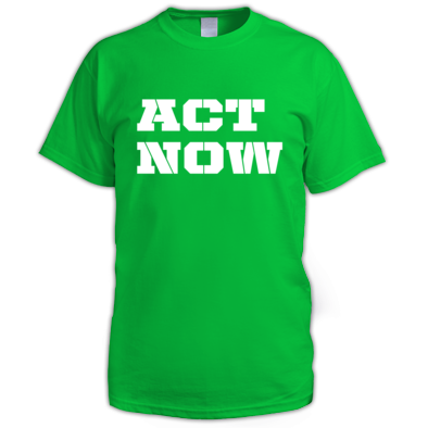 Act Now Logo t-shirt mens