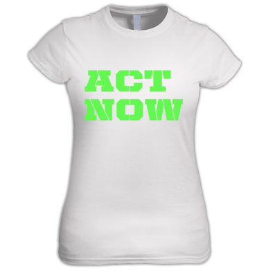 Act Now Logo t-shirt womens