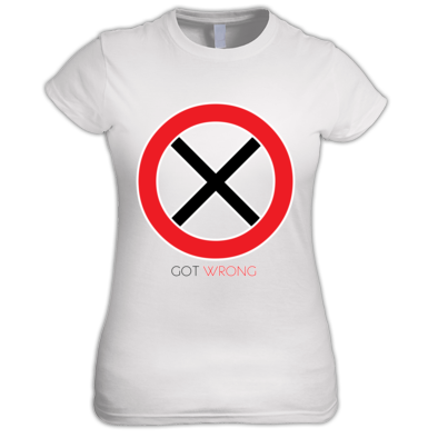 Got Wrong Cross Womens T Shirt