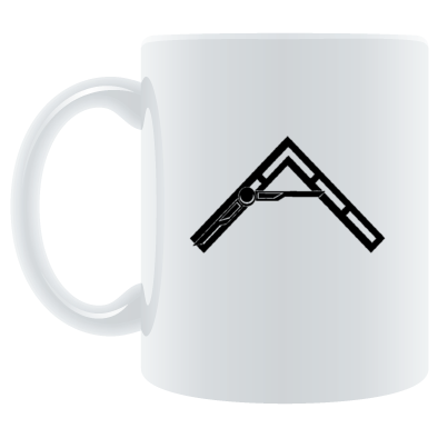 Arkhenatan White Mugs, Various Coloured Arkhenatan Logo