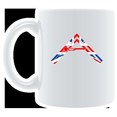 Arkhenatan White Mugs - Arkhenatan Union Jack Logo