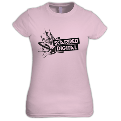 Scarred Digital Ladies T-Shirt (Black Logo)