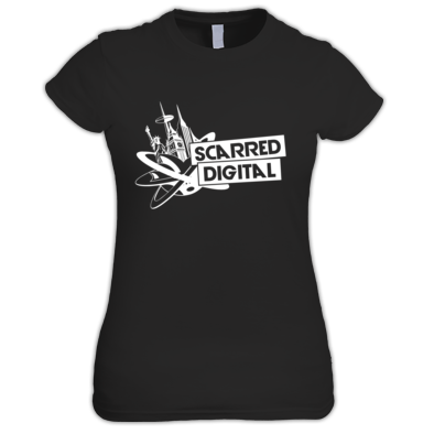 Scarred Digital Ladies T-Shirt (White Logo)