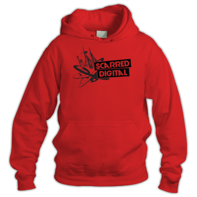 Scarred Digital Unisex Hoodie (Black Logo)