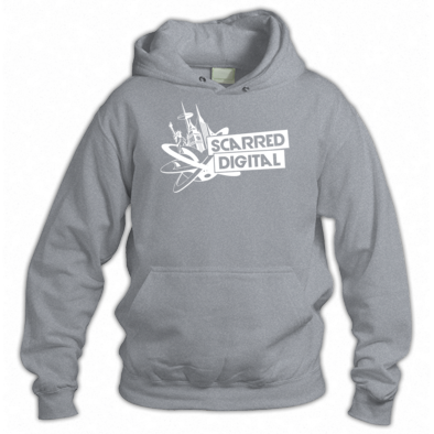 Scarred Digital Unisex Hoodie (White Logo)