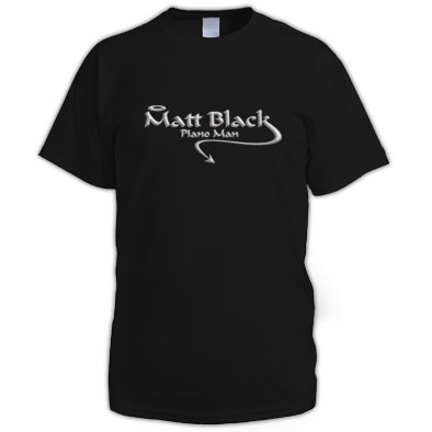 Men's T-Shirt with Silver Logo