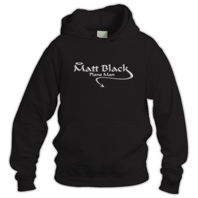 Hoodie with Silver Logo
