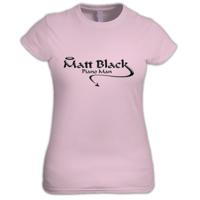 Women's T-Shirt with Black Logo