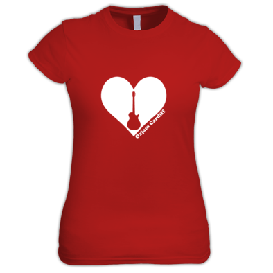 Oxjam Cardiff Heart - Ladies Tee